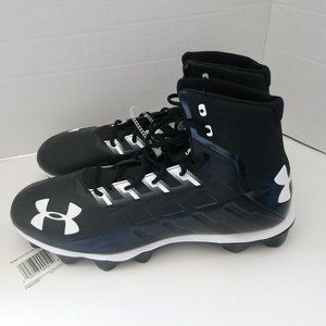 NEW UNDER ARMOR MENS FOOTBALL CLEATS SHOES SZ 14